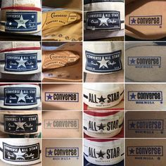 Converse 70s, Converse Vintage, Converse Classic, Vintage Shoes, Converse Shoes, Vintage Outfits, Vintage Sneakers, Custom Converse, Vintage Tags