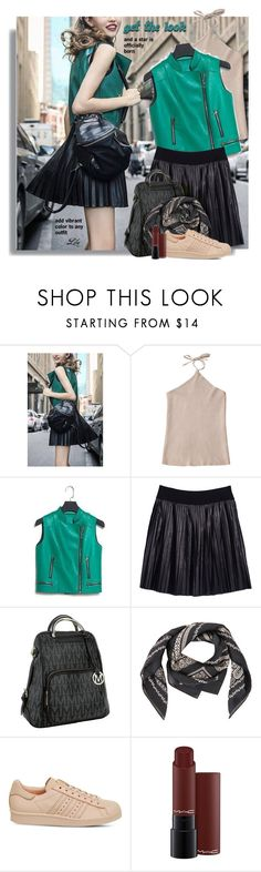 """""""Give Me Pleats, Please!"""" by breathing-style ❤ liked on Polyvore featuring Melissa McCarthy Seven7, MKF Collection, adidas, MAC Cosmetics and plus size clothing"""
