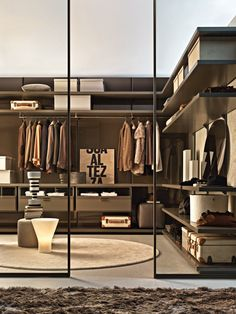 ARMARIO VESTIDOR COMPOSABLE A MEDIDA GLISS WALK-IN COLECCIÓN GLISS BY MOLTENI & C. | DISEÑO MOLTENI DESIGN TEAM