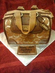 Coach Purse Cake I want next year!