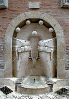 The Rioni Fountains by Pietro Lombardi, Rome Pietro Lombardi, Living In Italy, Pompeii, Ancient Romans, Roman Empire, Walking Tour, Fountain, Museum, Statue
