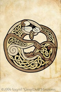 Celtic Ferret by *Illahie on deviantART