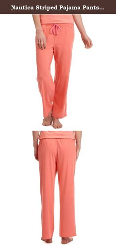 Nautica Striped Pajama Pants, Camelrose, XXL. This striped pajama pant has a flowy, easy fit you'll love for overnight and everyday lounging.