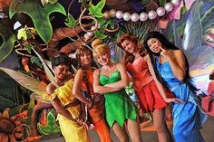 Disney Character Costume Iridessa, Fawn, Tinkerbell, Rosetta and Silvermist Disney And More, Disney Love, Disney Magic, Disney World Parks, Disney Pixar, Walt Disney, Tinker Bell, Disney Characters Costumes, Peter Pan Costumes