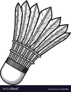 Badminton shuttlecock vector image on VectorStock