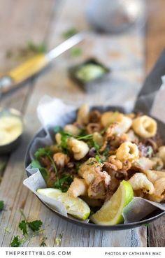 Crispy Squid with Chilli & Lemon Thyme Salt   Recipe