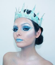 She became Queen of the Ice. Silence was her language.  31 Days of Halloween  Makeup, hair and model: Ingrid M. Rivera Photo: Pedro Acosta  IG: ingrid_makeup