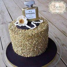 Oksana's Sinful Sweets: Chanel cake. Birthday cake. Celebration cake.