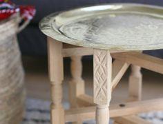 Kleiner Teetisch Marokko Beistelltisch Marokkanischer Tisch mit Tablett | eBay