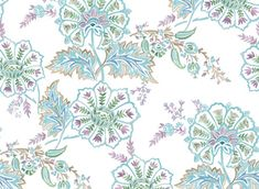 Indian Chintz by Seamless Repeat Royalty-Free Stock Pattern - Patternbank Paint Designs, Oriental, Royalty, Stationery, Hand Painted, Jacobean, Indian, Watercolor, Ornaments