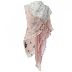 Lace, Stars, Pink - www.justloes.nl