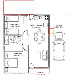 Free house plans with measures – Home Decoration The Plan, How To Plan, Free House Plans, Small House Plans, Small Tiny House, Small House Design, Home Design Floor Plans, House Floor Plans, Affordable House Plans