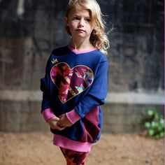 regram @mini_street_style Keep those Autumn chills at bay with fleece backed big heart jumper dress special offer pricing for Autumn kick off #trendykiddies #kids #kidsfashion #coolkids #ministreetstyle #ministreetstyle