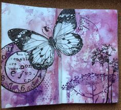 art journal page the art of moodling