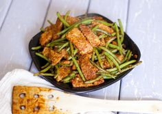 Sriracha Tempeh and Green Beans: Less Than 6 Ingredients Recipe — Fo Reals Life