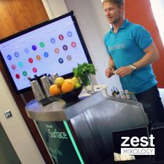 We loved combining our mixology skills with Microsoft's Surface technology. Guests at the special launch events could pick which cocktails they wanted to mix up using an app on the surface, and use specialist instructions to make tasty drinks themselves! Get a quote for an interactive cocktail experience on our website - link in bio. #Zestmixology #eventplanning #eventproduction #event #mixology #eventbar #cocktails #eventprofs #mobilebar #mocktails #socialbar #recipe #cocktailmaking…