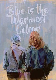 Blue is the warmest color. Print Wallpaper, Colorful Wallpaper, Lgbt, Film Blue, Blue Is The Warmest Colour, Poster Colour, Lesbian Wedding, Film Serie, Print Pictures