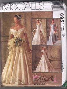 McCall's 6951 Bridal Gown & Bridemaid Dress  Sz by DustedMemories.. Reminds me of sleeping beauty's dress.. My childhood dream dress
