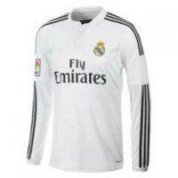 8fa77a1c6 Real Madrid CF 2014- 2015 Season Home Long Sleeve Jersey Cheap Football  Shirts