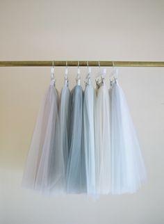 Alexandra Grecco tulle skirts.  Photo by Elizabeth Messina
