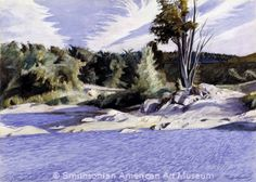 Edward Hopper, White River at Sharon, 1937, watercolor and pencil on paper, Smithsonian American Art Museum, Gift of the Sara Roby Foundation.