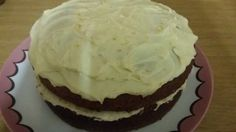 Chocolate cake with vanilla butter cream frosting Buttercream Frosting, Chocolate Cake, Vanilla, Baking, Desserts, Food, Chicolate Cake, Tailgate Desserts, Chocolate Cobbler