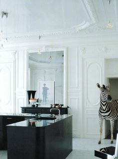 Everyone needs a Zebra for their Black and White Kitchen