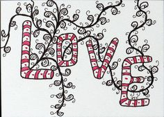 Zentangles:  Love on a Vine
