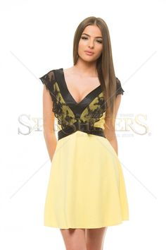 Artista Vulnerable Lace Yellow Dress Yellow Dress, Clothing Items, Vulnerability, Lace Detail, Lace Dress, Calvin Klein, Formal Dresses, How To Wear, Outfits