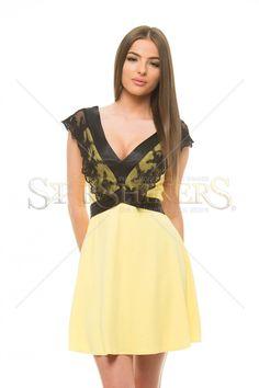 Artista Vulnerable Lace Yellow Dress