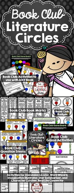 Book Club | Book Club | Literature Circles | Novel Studies Book Clubs is an exciting and educational way for your students to grow as readers in your class! I LOVE using book clubs every year and this packet makes it so easy to just PRINT and GO!