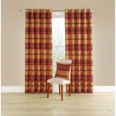 Spectrum Ready Made Curtains Tangerine