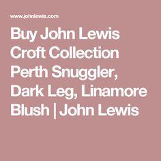 Buy John Lewis Croft Collection Perth Snuggler, Dark Leg, Linamore Blush | John Lewis