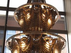 bicycle chain chandelier by Facaro