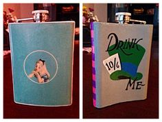 """""""Alice in Wonderland"""" inspired painted flask - idea from the wonderful Brandi Marie Black Nola Cooler, Cute Gifts, Diy Gifts, Cooler Connection, Queen Alice, Hey Bartender, Wine Painting, Sorority Big Little, Frat Coolers"""