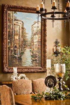 Tuscan Reflections - mediterranean - dining room - other metro - Professional Design Consultants