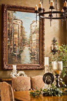 Tuscan & Venetian Reflections / mediterranean dining room