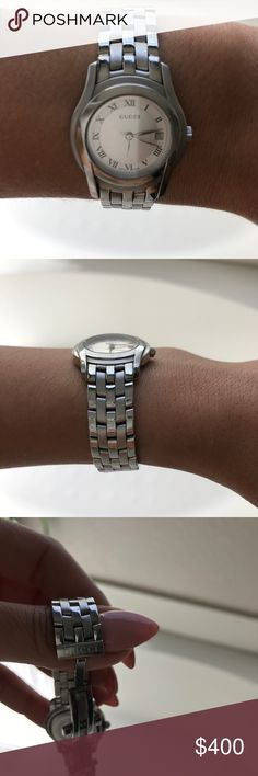 Authentic Gucci stainless steel watch Authentic Gucci stainless steel watch. Small round Gucci Accessories Watches