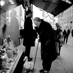 Vivian Maier   Untitled (Man with Duck)   Steven Kasher Gallery