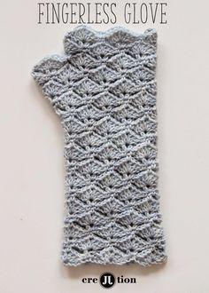 Free Pattern Crochet Fingerless Gloves | Crochet Patterns, tips & Ideas كروشي ورد نبرونات بترونات