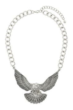 Chunky eagle necklace from Topshop