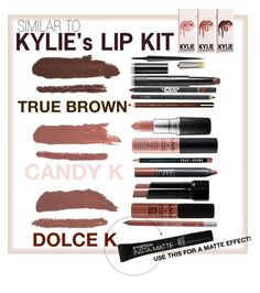 """KYLIE LIP KIT DUPES"" by cohleentorres on Polyvore featuring beauty, M.A.C, NARS Cosmetics, MAC Cosmetics, Bobbi Brown Cosmetics, Lipstick Queen, Surratt, Christian Louboutin, Clarins and Urban Decay"