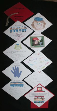Kindergarten or Preschool Graduation Memory Book. Free templates. When assembled looks like a motarboard!