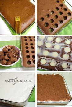 Puding Dolgulu Kekdiğer adıyla Poke Kek görüntüsü ile çok hoş ama bir o kadar da lezzetli bir kek tarifi. Yapım aşamaları sizi yanıltmasın yapılışı çok kolay. Baktığınız zaman göreceksiniz ki klasik bir kek tarifi ve hazır puding ile yapılan çok kolay bir tarif. Arzu ederseniz pudingini kendiniz ev