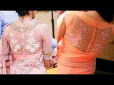 Latest Back Net Work Blouse Designs Netted Blouse Designs, Saree Blouse Neck Designs, Fancy Blouse Designs, Net Saree Blouse, Silk Sarees, Blouse Designs Catalogue, Stylish Blouse Design, Designer Blouse Patterns, Collor