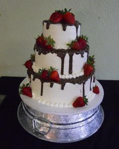 Strawberry & Chocolate Wedding Cake