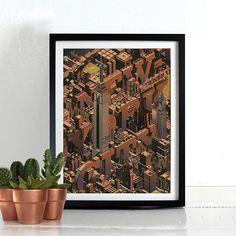 New York City Poster Print Wall Art Hanging Print Home Décor