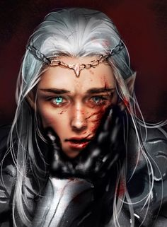 Not as gruesome as how I imagine Thranduil's injury to look. Although - could be a good Ferion plot line