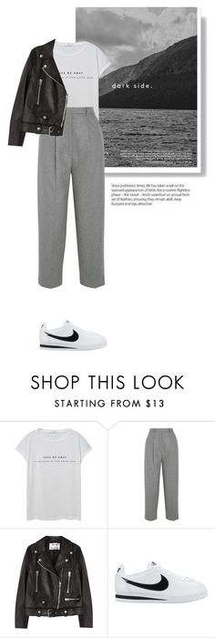 """""""Untitled #438"""" by lily1lol ❤ liked on Polyvore featuring MANGO, Acne Studios and NIKE"""