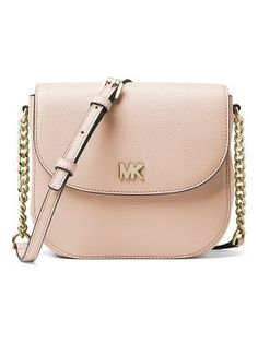 46b209cf1a76e9 MICHAEL Michael Kors Half-Dome Leather Crossbody Bag - Golden Hardware Michael  Kors Crossbody Bag